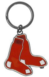 Boston Red Sox Chrome Logo Cut Keychain