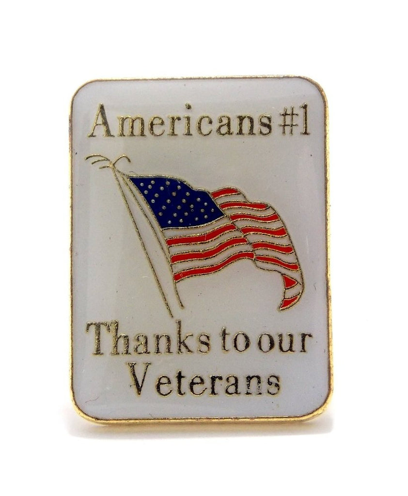 Americas #1 Thanks To Our Veterans Lapel Hat Pin