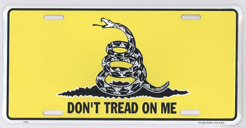 Don't Tread on Me Metal License Plate
