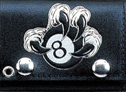"EAGLES CLAW AROUND 8 BALL Leather Tri-Fold 4"" Wallet with Chain"