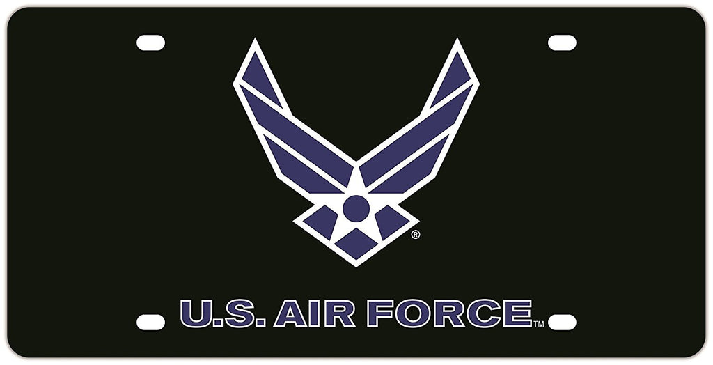 Air Force Acrylic Mega License Plate