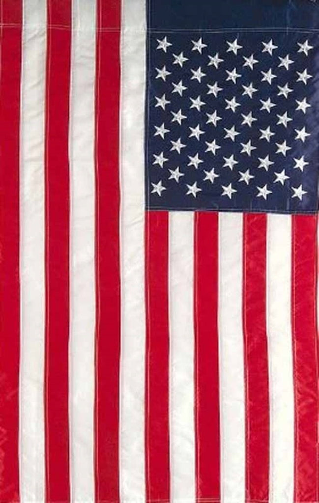 Embroidered American Flag Garden Flag
