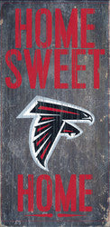 "Atlanta Falcons Wood Sign - Home Sweet Home 6""x12"" - Fanz of Sportz"