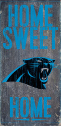 "Carolina Panthers Wood Sign - Home Sweet Home 6""x12"" - Fanz of Sportz"