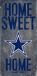 "Dallas Cowboys Wood Sign - Home Sweet Home 6""x12"" - Fanz of Sportz"