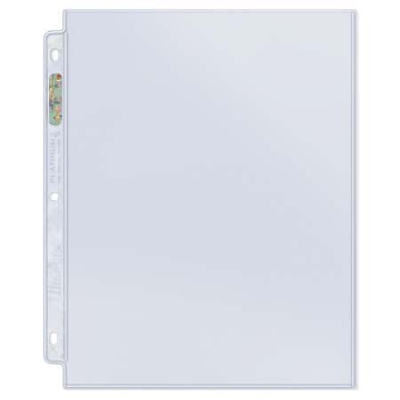 "1-Pocket Platinum Page with 8-1/2"" X 11"" Pocket (50 count)"