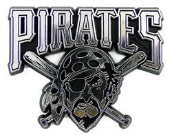 Pittsburgh Pirates Silver Auto Emblem
