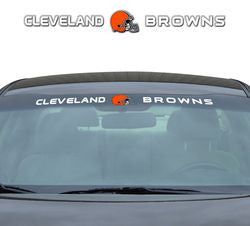 "Cleveland Browns 35""x4"" Windshield Decal - Fanz of Sportz"