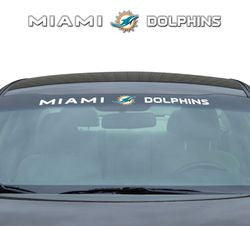 "Miami Dolphins 35""x4"" Windshield Decal"