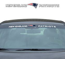 "New England Patriots 35""x4"" Windshield Decal"