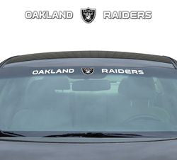 "Oakland Raiders 35""x4"" Windshield Decal"