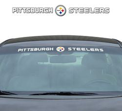"Pittsburgh Steelers 35""x4"" Windshield Decal"
