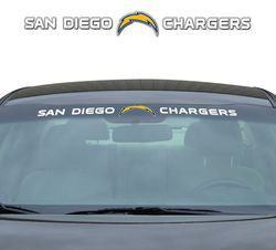 "San Diego Chargers 35""x4"" Windshield Decal"