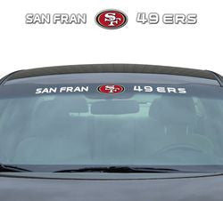 "San Francisco 49ers 35""x4"" Windshield Decal"