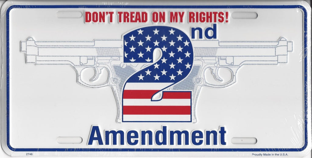 Don't Tread on Me 2nd Amendment License Plate