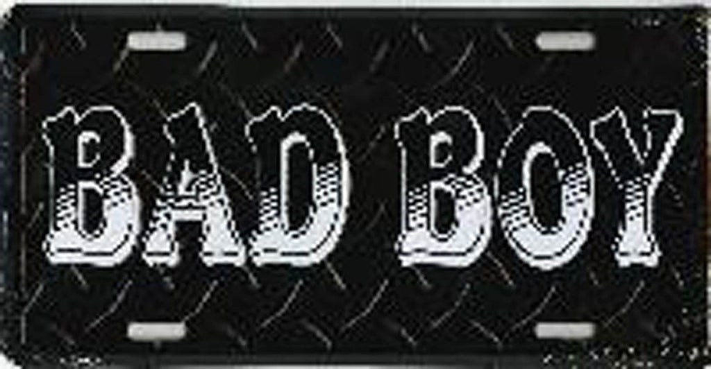 Bad Boy Black Diamond Cut License Plate