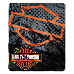 Harley-Davidson Blanket - 60x80 Plush - Motor Patch Design
