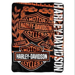 Harley-Davidson Blanket - 60x80 Plush - Gear Design