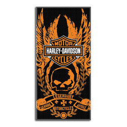 Harley-Davidson Towel - Beach - Bad to the Bone Design