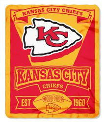 Kansas City Chiefs 50x60 Fleece Blanket - Marque Design