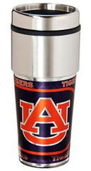 Auburn Tigers 16 ounce Travel Tumbler with Metallic Graphics - Fanz of Sportz