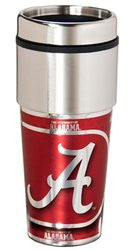 Alabama Crimson Tide 16 ounce Travel Tumbler with Metallic Graphics