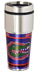 Florida Gators 16 ounce Travel Tumbler with Metallic Graphics