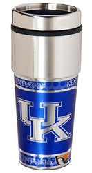 Kentucky Wildcats 16 ounce Travel Tumbler with Metallic Graphics