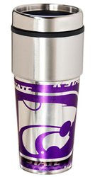 Kansas State Wildcats 16 ounce Travel Tumbler with Metallic Graphics