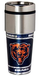 Chicago Bears 16 ounce Travel Tumbler with Metallic Graphics