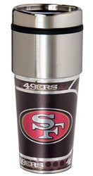 San Francisco 49ers 16 ounce Travel Tumbler with Metallic Graphics