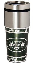 New York Jets 16 ounce Travel Tumbler with Metallic Graphics