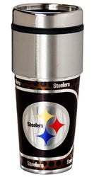 Pittsburgh Steelers 16 ounce Travel Tumbler with Metallic Graphics