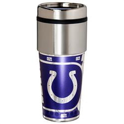 Indianapolis Colts 16 ounce Travel Tumbler with Metallic Graphics