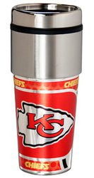 Kansas City Chiefs 16 ounce Travel Tumbler with Metallic Graphics