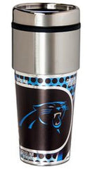 Carolina Panthers 16 ounce Travel Tumbler with Metallic Graphics - Fanz of Sportz