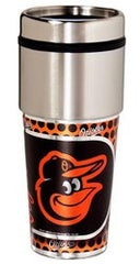 Baltimore Orioles 16 ounce Travel Tumbler with Metallic Graphics - Fanz of Sportz