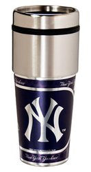 New York Yankees 16 ounce Travel Tumbler with Metallic Graphics