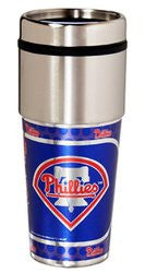 Philadelphia Phillies 16 ounce Travel Tumbler with Metallic Graphics