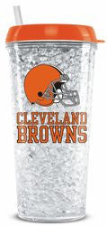 Cleveland Browns Crystal Freezer Tumbler - Fanz of Sportz