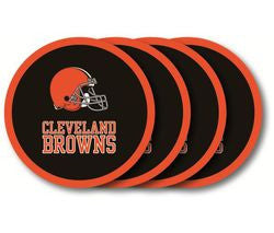 Cleveland Browns 4 Pack Coaster Set - Fanz of Sportz