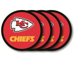 Kansas City Chiefs Coaster 4 Pack Set