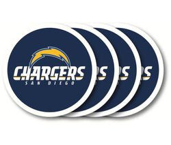 San Diego Chargers Coaster 4 Pack Set