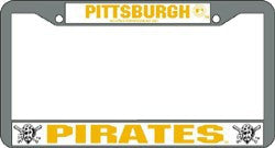 Pittsburgh Pirates Chrome License Plate Frame