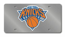 New York Knicks Laser Cut Silver License Plate