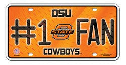 Oklahoma State Cowboys License Plate - #1 Fan