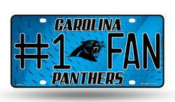 Carolina Panthers License Plate - #1 Fan - Fanz of Sportz