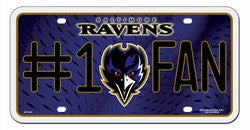 Baltimore Ravens License Plate - #1 Fan - Fanz of Sportz