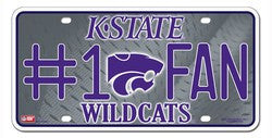 Kansas State Wildcats License Plate - #1 Fan