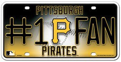 Pittsburgh Pirates License Plate - #1 Fan